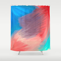 Violet  Shower Curtain by Sierra Christy Art