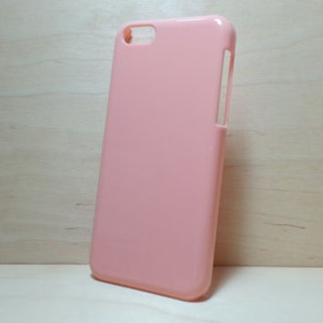 iphone 5c hard plastic case - Peach (for decoden phone case)