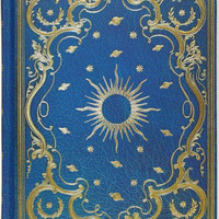 Celestial Blue and Gold Embossed Paper Bound Journal (6