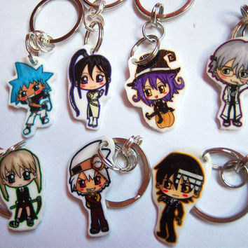 Soul Eater Chibi Charm Keychain or Phonecharm by IcyPanther