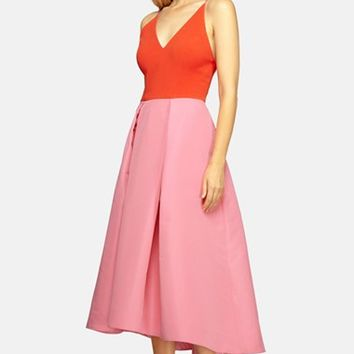 Women's Phoebe Colorblock Low Back Fit & Flare Dress