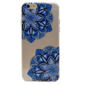 Fashion Retro Blue Flower iPhone 5s 6 6s Plus Case Ultrathin Cover Free Gift Box 39