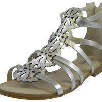 Pampili Girl's Silver Clara Sandals