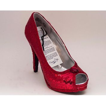 Select Your Color of Sequin 6 Inch Stiletto High Heels