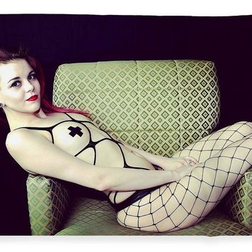 After Dark Model Mary Ann Siiting In Chair - Blanket