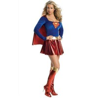Supergirl Adult Halloween Cosplay Costume For Women