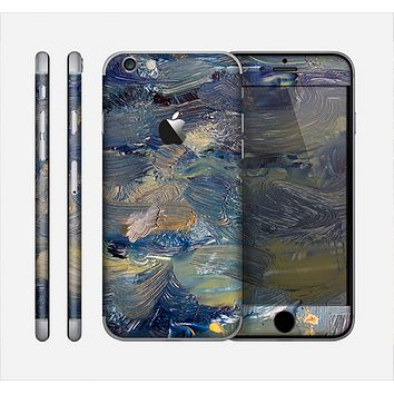 The Blue & Yellow Abstract Oil Painting Skin for the Apple iPhone 6