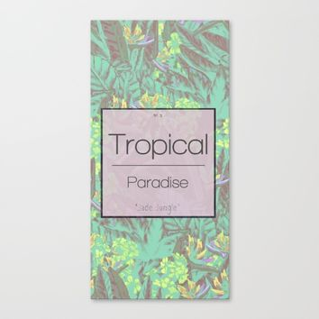 Tropical Paradise: Jade Jungle Canvas Print by Ben Geiger