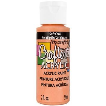 Crafter's Acrylic All-Purpose Paint 2oz-Soft Coral