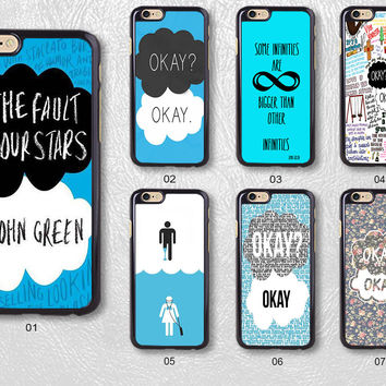 John Green Okay The Fault in Our Stars Protective Phone Case For iPhone case & Samsung case, H53