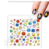 Jem Beauty Supply: Misc 13353 Nail Water Decal Pokemon 327 1 Sheet, Nail Art Stickers