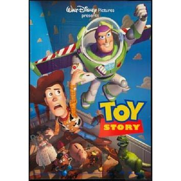 Toy Story 1 Movie poster Metal Sign Wall Art 8in x 12in