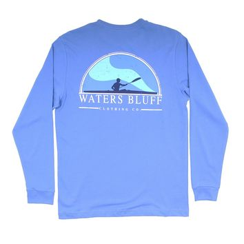 Paddler Long Sleeve Tee in Mystic Blue by Waters Bluff - FINAL SALE