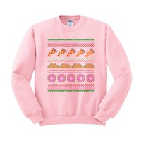 Junk Food Ugly Christmas Sweater Crewneck Sweatshirt
