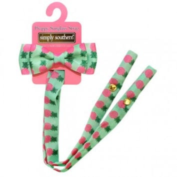 Simply Southern Sunglass Bow Retainer - Pink Pineapple