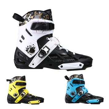 [Upper Boot] Professional Adult Inline Skates Shoes PP Upper Boot Breathable Washable Inner Boot Buckle Lace EU 34 35 to 44 45