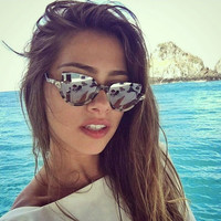2017 New Women Brand Designer Vintage Half Frame Protection Sun Glasses for Women Sexy Cat Eye Sunglasses Fashion Retro Eyewear