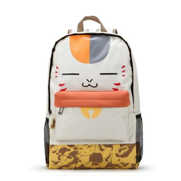 Anime Japan Natsume Yuujinchou Neko Sensei Cat Kawaii Backpack