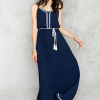Charlton Embroidered Maxi Dress