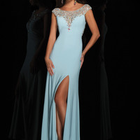 Beaded Cap Sleeves Tony Bowls Le Gala Formal Prom Dress 114537