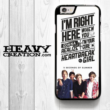 5 Seconds Of Summer Watercolor for iPhone 4 4S 5 5S 5C 6 6 Plus , iPod Touch 4 5  , Samsung Galaxy S3 S4 S5 S6 S6 Edge Note 3 Note 4 , and HTC One X M7 M8 Case