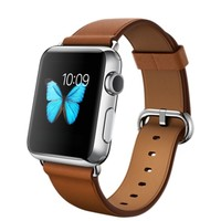 Apple Watch - 38mm Stainless Steel Case with Saddle Brown Classic Buckle