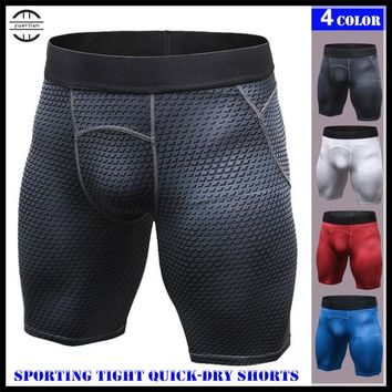 Men Pro Shapers Underwears 3D Print Tight Boxers,Cool High Elastic Breathable Sweat Quick-dry Wicking Sporting Fitness Shorts