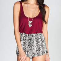 FULL TILT Button Back Womens Swing Crop Top