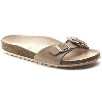 Sale Birkenstock Madrid Flower Leather Nude 1005372 Sandals