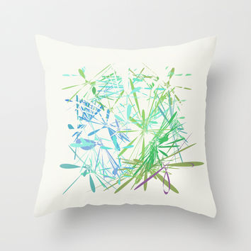 Almost White Throw Pillow by Liberation's