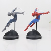 2 style Spiderman Action Figure Toy Super Hero Spider Man Figurine Model Anime Toy For Boys 18cm