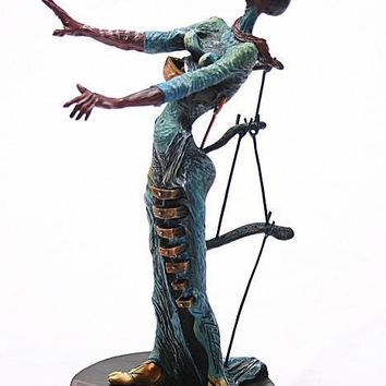 Burning Giraffe Woman with Drawers Statue by Salvador Dali 7.5H - SD02