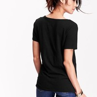 Old Navy Womens Relaxed V Neck Tees