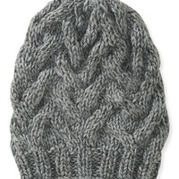 Cable-Knit Basket Beanie Hat - Aeropostale