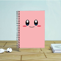 Kirby Cute Face Photo Notebook Auroid