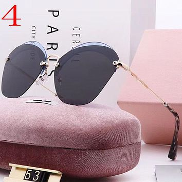 Perfect Miu Miu Fashion Women Summer Sun Shades Eyeglasses Glasses Sunglasses