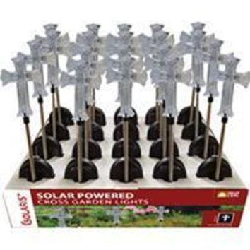 Alpine Corporation - Solar Cross Garden Stake With White Led Lights