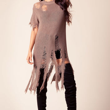 Petra Distressed Sweater Tunic
