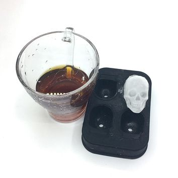 Skull Silicone Shaped Mold DIY Candy Ice Cream Popsicle Mold Pudding Soap Ice Cubes Moulds Halloween gift