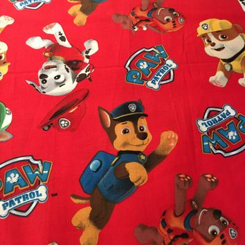 Paw Patrol Toss Cotton Fabric from David Textiles #4017-4c 1/2 yd
