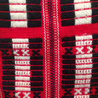 Red White Black Crochet Indie Hipster Aztec Tribal Purse