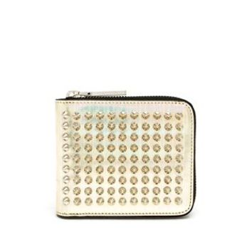 CHRISTIAN LOUBOUTIN | Mirrored Leather Spiked Wallet | brownsfashion.com | The Finest Edit of Luxury Fashion | Clothes, Shoes, Bags and Accessories for Men & Women
