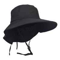 Anti-UV Cotton Sun Hat Casual Solid Daily Hat UV protection Summer Cap For Women  HISSHE