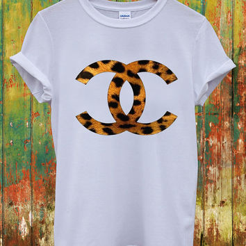 Chanel CC Leopard Animal Print Music Dope Swag Geek Louis Vuitton Celine Paris Hippie Comme Des Fuckdown Men Women Unisex Top T-Shirt