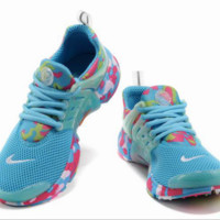 NIKE fashion breathable comfortable running shoes Rose red fluorescent green