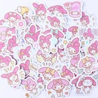 40pcs Creative cute  Kawai self-made my melody scrapbooking stickers/decorative sticker /DIY craft photo albums