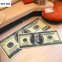 Creative Dollar Carpet custom made Clubhouse Cafe mat Bedside mats money pattern rug Non-slip floor mats free shipping