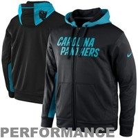 Nike Carolina Panthers KO Full Zip Performance Jacket - Black