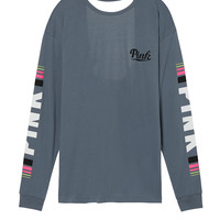 Campus Open Back Tee - PINK - Victoria's Secret