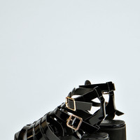 Kendal Patent Cleated Sole Gladiator Sandals